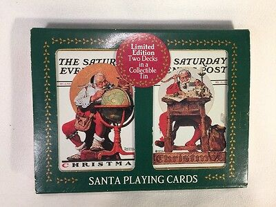 THE SATURDAY EVENING POST Norman Rockwell CHRISTMAS Nostalgic Playing Cards
