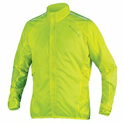 Endura Men's Pakajak Cycling Jacket (Bright Yellow / (L) Large)
