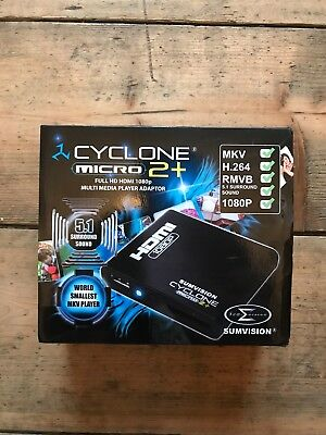 New Unused Sumvision Cyclone Micro 2+ Multi Media Player Adapter - Full HD HDMI