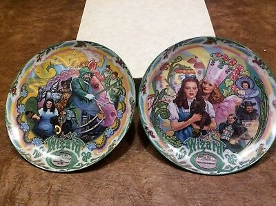Wizard Of Oz Musical Plates #3 & #8 - The Merry Old Land Of Oz/Munchkinland
