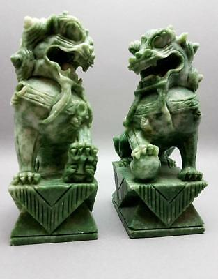 High Quality Large Vintage Chinese Soapstone Foo Dogs/lions