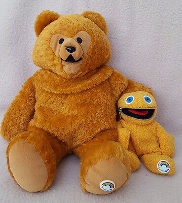 "Rainbow Vintage 1972 13"" Bungle & 6"" Zippy Soft Toys by Golden Bear Products"