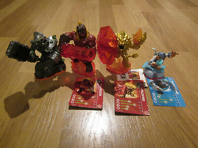 Skylanders Bundles including figures and cards, 3 X Trap Team figures and 1 Gian