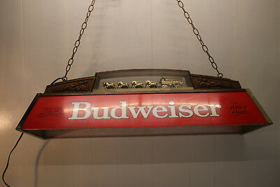 Budweiser Clydesdale  Pool Table Overhead Light  ~Super Cool~