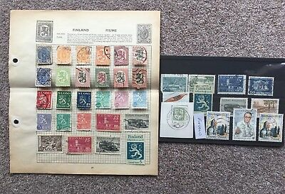 Finland, small collection of stamps.