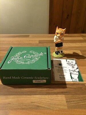 Royal Doulton Beswick Footballing Felines Dribble New in Box Limited Edition