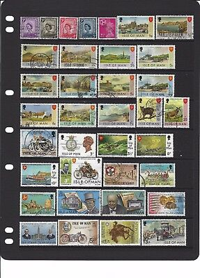 Great Britain , Regional issues  ISLE OF MAN STAMPS , 150 diff  used , 4 scans .