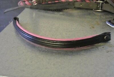 Black browband with pink edge, Full