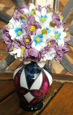 Flower Bouquet in Vase China Ornament (Can Collect in Derby)