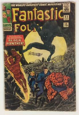 Fantastic Four #52. 1st APPEARANCE BLACK PANTHER (Marvel 1966) KEY no reserve
