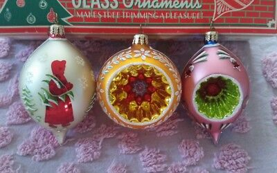 Radko Fantasia Select Limited Edition Indented Set of 3  Christmas Ornaments