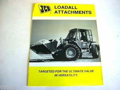JCB Loadall Attachments, 8 Pages,1991 Brochure                              #