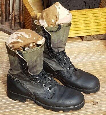 Vintage Ro Search Mens Jungle Boots Vietnam War US Military Issue Size 7 R