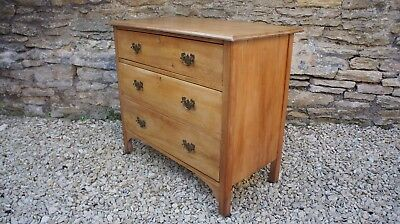 Antique shabby chic Edwardian Pine chest of drawers vintage lovely proportions