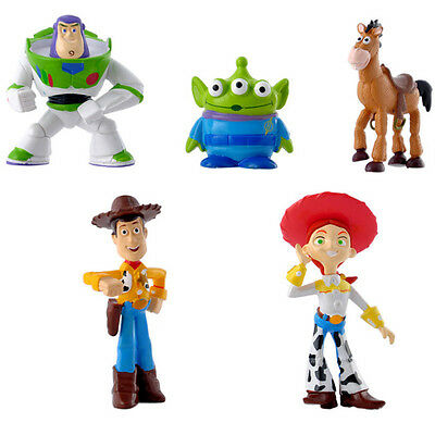 5pcs Fun Movie Toy Story Buzz Lightyear Woody Action Figures Doll Set Kids Toy A