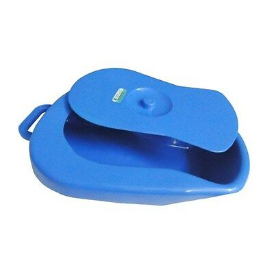 Surgicals Bed Pan for adult with cover, Polypropylene, AUTOCLAVABLE, Blue color