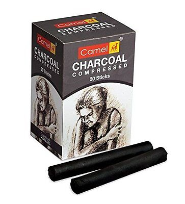 Camel Compressed Charcoal Sticks 20 Pcs Box-sketching needs of an artist