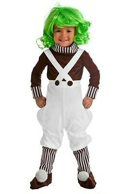 Tots Chocolate Factory Worker Oompa Loompa Costume Size 12 Month