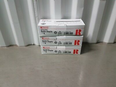 Ricoh  Refill Staple Type K (Genuine) 410802 ( 3 x 5,000 Staples )