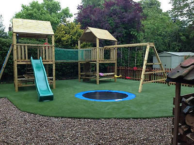 THE WORKS Double 6ftsq Huge Spec OUTDOOR QUALITY WOODEN CLIMBING FRAME RRP £1795