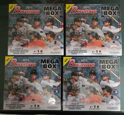 2017 Bowman Mega Box Factory Sealed Lot (4)  Mojo Bellinger Otani Judge Acuna