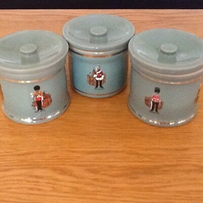 Vintage Denby Storage Jars,Military Design , Green.