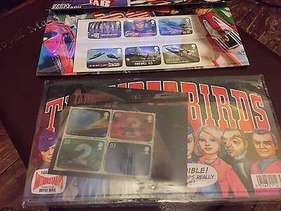 royal mail stamps thunderbirds presentation pack, set off two