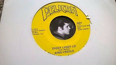 King Creole ‎– Diggy Diggy Lo/Sugar cane 45RPM Single(7-inch) Cajun Garage rock