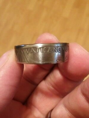 Pope John Vatican Lire Coin Ring
