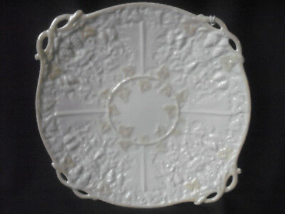 Irish Belleek Mask Bread Plate Third Black Mark Period .