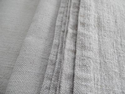 ANTIQUE FRENCH HEMP CHANVRE SHEET -HAND LOOMED FABRIC PANEL-RUSTIC TEXTILE 2.5Kg