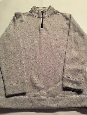 Boys Old Navy Fleece Sweater Pullover with Zipper, Size XL 14-16 Soft Gray