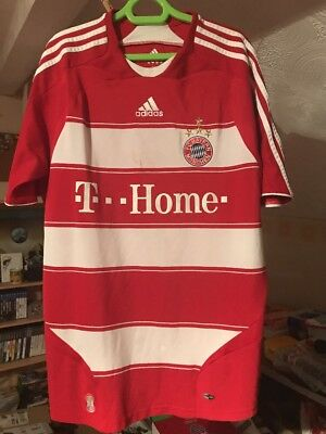 Vintage Bayern Munich Home Football Shirt 08-09 Size L Large