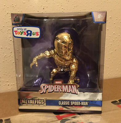 SDCC 2017 Exclusive Metal figs Gold Die Casts Spider-Man Classic In Hand