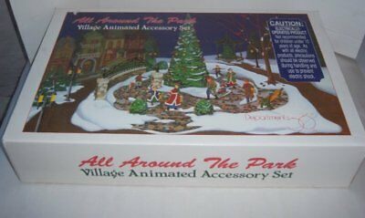 Dept 56 Christmas All Around The Park Animated Village Accesory Set
