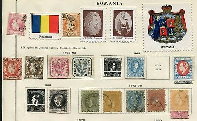 Romania -  Small collection classics,  MH/Cancelled