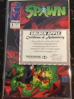 Spawn 1 Signed By Mcfarlane With Coa