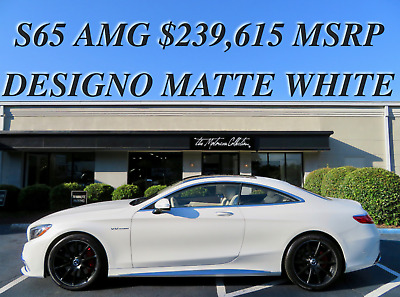 2015 Mercedes-Benz S-Class S65 AMG Coupe JUST ARRIVED! MSRP $239,615.00 SPECIAL ORDER MAGNO CASHMERE WHITE