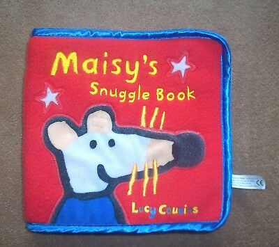 Lucy Cousins Maisy Mouse cloth/ baby BOOK Storybook TV Show - soft snuggle