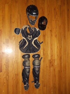 Under Armour Victory Senior Catcher's Gear Chest Protector Leg Guard Mask Youth