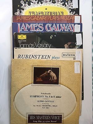 "6 x 12"" Classical Albums - Tchaikovsky / Chopin / James Galway / Khatchaturian"