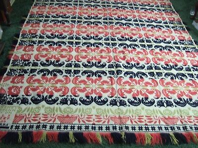 Antique Hand Woven 1836 Double Signed Coverlet Ctr Stitched Pre-Civil War 86X72