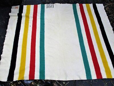 Hudson Bay 4 Point Wool Blanket Clean With One Small Hole