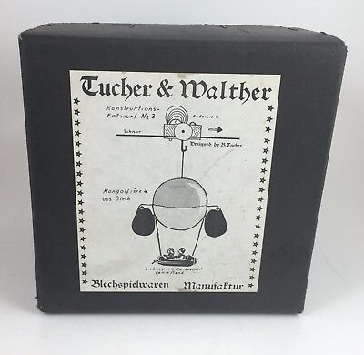 Vintage Antique Tucher & Walther Tin Mongolfiere Ous Blech Hot Air Balloon Toy