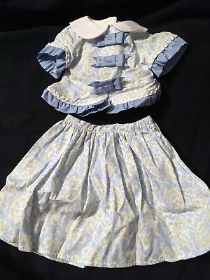 American Girl Blue and White Marie Grace Outfit