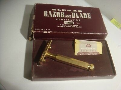 Klenzo Gold Plated Safety Razor, minimal wear