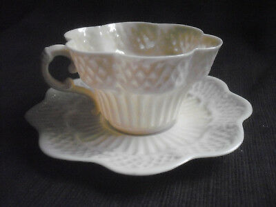 Belleek Erne Cup & Saucer Second Black Mark Period