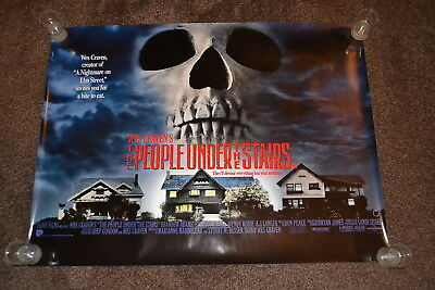 THE PEOPLE UNDER THE STAIRS original cinema Poster 1991 UK quad - Wes Craven