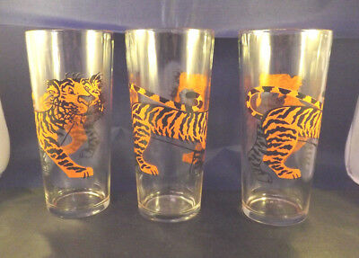 Vintage (6) Tiger High Ball Glasses. Look like Esso Tiger. Great Condition.