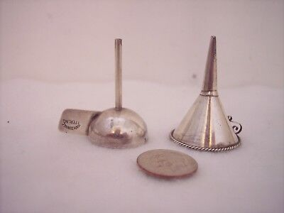 2 Vintage Sterling Silver Perfume Funnels Mary Dunhill & Mexico